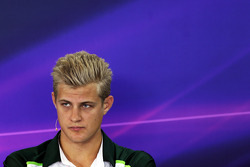Marcus Ericsson, Caterham in the FIA Press Conference