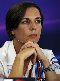 F1: Claire Williams, Williams Deputy Team Principal in the FIA Press Conference