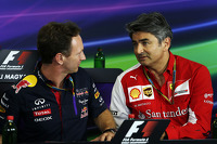 Christian Horner, Red Bull Racing Team Principal and Marco Mattiacci, Ferrari Team Principal in the FIA Press Conference