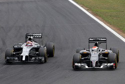 F1: Jenson Button, McLaren F1 Team and Adrian Sutil, Sauber F1 Team