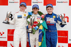 Podium: winner Pietro Fittipaldi, second place Matteo Ferrer, third place Alex Gill