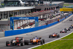 EUROF3: Restart: Esteban Ocon, Prema Powerteam Dallara F312 Mercedes and Felix Rosenqvist, kfzteile24 Mücke Motorsport Dallara F312 Mercedes collide