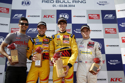 Tom Blomqvist, Antonio Giovinazzi, and Lucas Auer