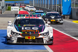 Race winner Marco Wittmann, BMW Team RMG BMW M4 DTM arrives in parc fermé