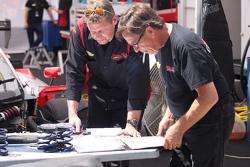 Marsh Racing crew members at work