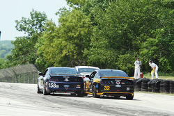 #158 Multimatic Motorsports Mustang Boss 302R: Ian James, Billy Johnson and #32 Phoenix American Motorsports Mustang Boss 302R: Kurt Rezzetano, Andrew Aquilante