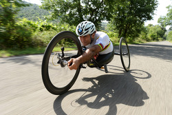Alex Zanardi prepares for a long-distance triathlon to be held in Hawaii in October
