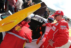 F1: Kimi Raikkonen, Scuderia Ferrari drives a car from the Shell Eco Marathon