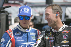 Trevor Bayne and Kevin Harvick