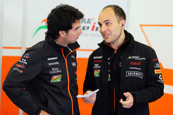 Sergio Perez, Sahara Force India F1 with Gianpiero Lambiase, Sahara Force India F1 Engineer