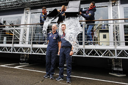 Adrian Newey, Red Bull Racing Chief Technical Officer and Christian Horner, Red Bull Racing Team Principal take part in the ALS ice bucket challenge