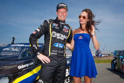#18 Olsbergs MSE Ford Fiesta ST: Patrik Sandell with the Red Bull girl