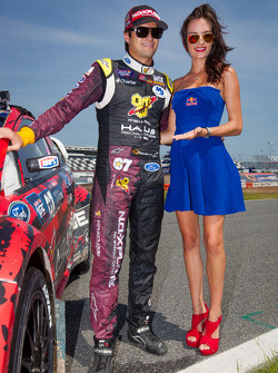 #07 SH Racing Rallycross Ford Fiesta ST: Nelson Piquet Jr. with the Red Bull girl