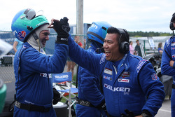 Falken team celebrates their 2nd place finish