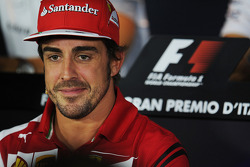 F1: Fernando Alonso, Ferrari in the FIA Press Conference