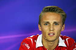 F1: Max Chilton, Marussia F1 Team in the FIA Press Conference