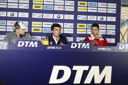 Vitaly Petrov, Mercedes AMG DTM-Team Mücke DTM Mercedes AMG C-Coupé, Bruno Spengler, BMW Team Schnitzer BMW M4 DTM, Edoardo Mortara, Audi Sport Team Abt Audi RS 5 DTM