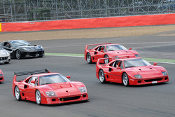 La Ferrari, Enzo and F40 on Track