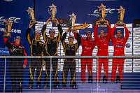 LMP1-L class podium: first place Nicolas Prost, Nick Heidfeld, Mathias Beche; second place Christophe Bouchut, James Rossiter, Lucas Auer