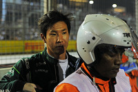 Kamui Kobayashi, Caterham retired from the race on the formation lap