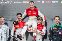 Pro Cup podium: race winners Cesar Ramos, Laurens Vanthoor, Christopher Mies