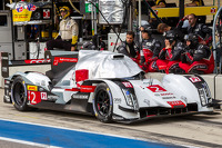 #2 Audi Sport Team Joest Audi R18 E-Tron Quattro covered before qualifying