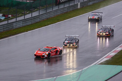 Safety car leads #1 Belgian Audi Club Team WRT Audi R8 LMS Ultra: Cesar Ramos, Laurens Vanthoor, Christopher Mies