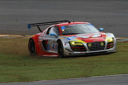 Trouble for #45 Flying Lizard Motorsports Audi R8 LMS: Nelson Canache, Spencer Pumpelly, Andrew Palmer