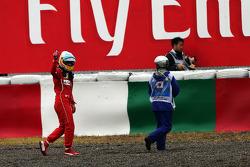 Fernando Alonso, Ferrari retired from the race