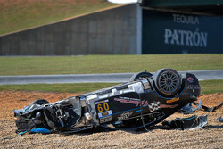 #09 TRG AMR Aston Martin: James Davison crashed