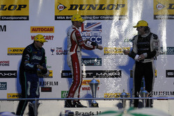 Round 30 Podium Celebration with Gordon Shedden, Mat Jackson and Jack Clarke