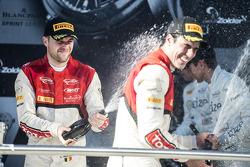 Podium: race winners Cesar Ramos, Laurens Vanthoor