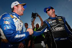 Polesitter Brian Vickers and second place Jimmie Johnson