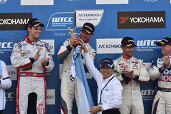 Jose Maria Lopez, Tom Chilton and Sebastien Loeb