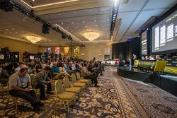 Championship contenders press conference: Denny Hamlin, Joe Gibbs Racing Toyota, Kevin Harvick, Stewart-Haas Racing Chevrolet, Joey Logano, Team Penske Ford, Ryan Newman, Richard Childress Racing Chevrolet