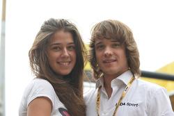 Mikhail Kozlovskiy, LADA Granta 1.6T, LADA Sport, and girlfriend