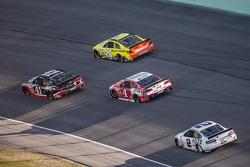 Kurt Busch, Stewart-Haas Racing Chevrolet, Matt Kenseth, Joe Gibbs Racing Toyota, Kevin Harvick, Stewart-Haas Racing Chevrolet, Brad Keselowski, Team Penske Ford