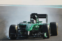 Kamui Kobayashi, Caterham CT05 locks up under braking