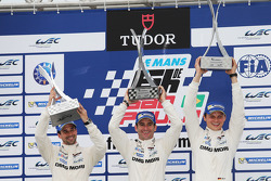 Podium: race winners Neel Jani, Romain Dumas, Marc Lieb