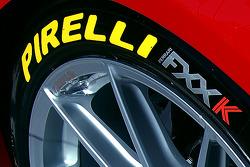 Pirelli tire detail on the Ferrari FXX K