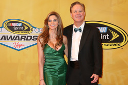 NASCAR CEO and Chairman Brian France and his wife Amy