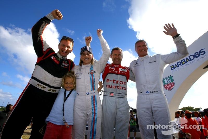 1. Tom Kristensen und Petter Solberg; 2. Susie Wolff und David Coulthard