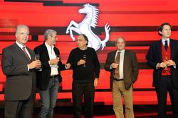 Piero Ferrari, Maurizio Arrivabene, Sergio Marchionne, Amedeo Felisa, John Elkann