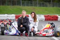 Cyndie Allemann with her driver Laura Ehren