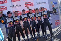Jari-Matti Latvala, Miikka Anttila, Sébastien Ogier,  Julien Ingrassia, Andreas Mikkelsen and Ola Floene