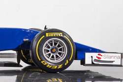 Detail of the new Sauber C34-Ferrari