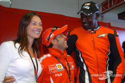 Loris Capirossi with Michael Jordan