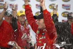 Victory lane: race winner Dale Earnhardt Jr. celebrates