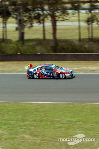 Russell Ingall along the back straight