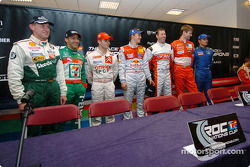 The draw: Armin Schwarz, Tony Kanaan, Sébastien Loeb, Mattias Ekström, Colin McRae, Marcus Gronholm and Stephane Sarrazin